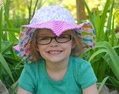 Wide brim baby sun hat, c...