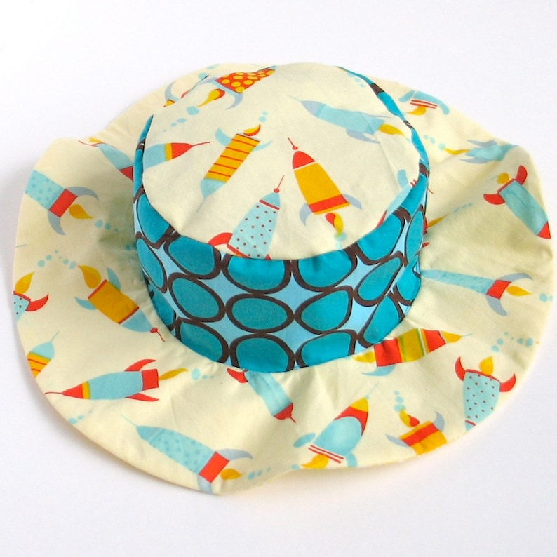SALE  Baby wide brim sun hat summer sun hat for boys beach image 0