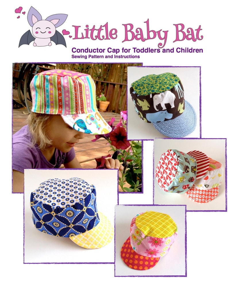 Hat Sewing Pattern for Conductor Cap or Cadet Cap in PDF image 0