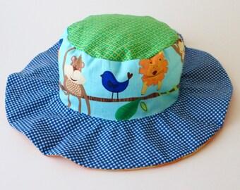 CLEARANCE - New baby sun hat, gender neutral wide brim hat for babies, newborns, infants