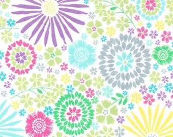 quilter's cotton, Flora Pop Michael Miller DC7405, colorful flower print - 1 yard