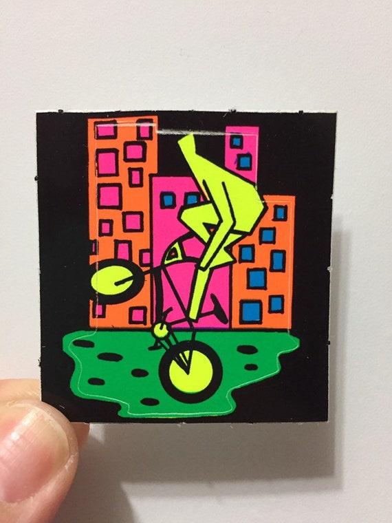 Vintage BJ Neon Rad Sport Stickers Trick Bike
