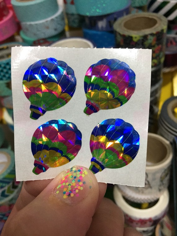 Vintage 80/'s Great Seven 7 PRISM Hot Air Balloons Sticker Mod