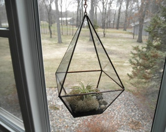 Four Sided Hanging Glass Terrarium