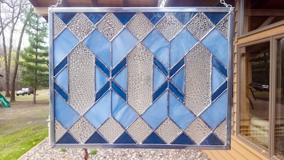 Image result for stained glass panel blue