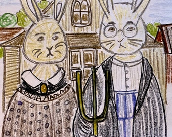 American Bunny Gothic