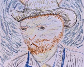 Self Portrait of Bunny Van Gogh