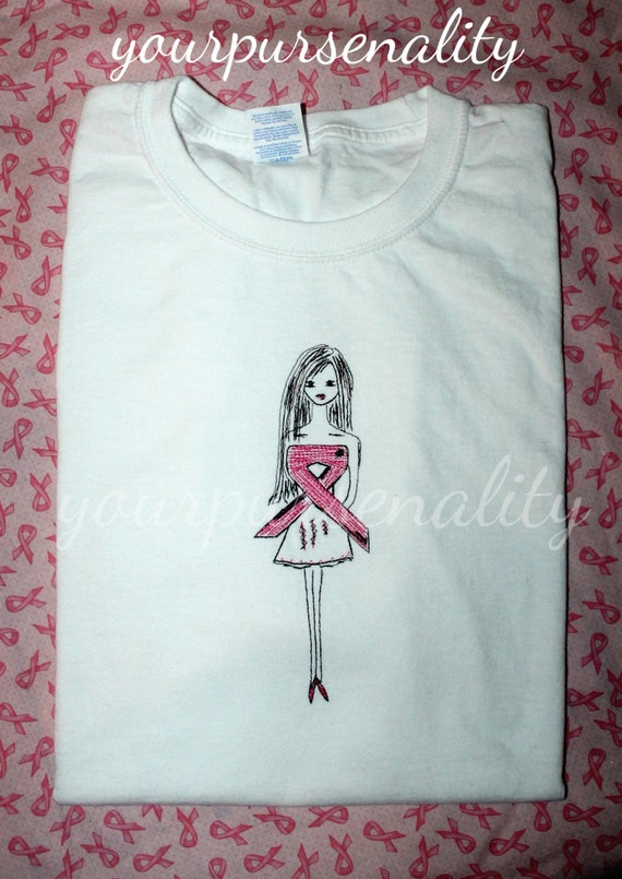 Breast Cancer Awareness Shirt for WomenPink Ribbon Think Tank Top