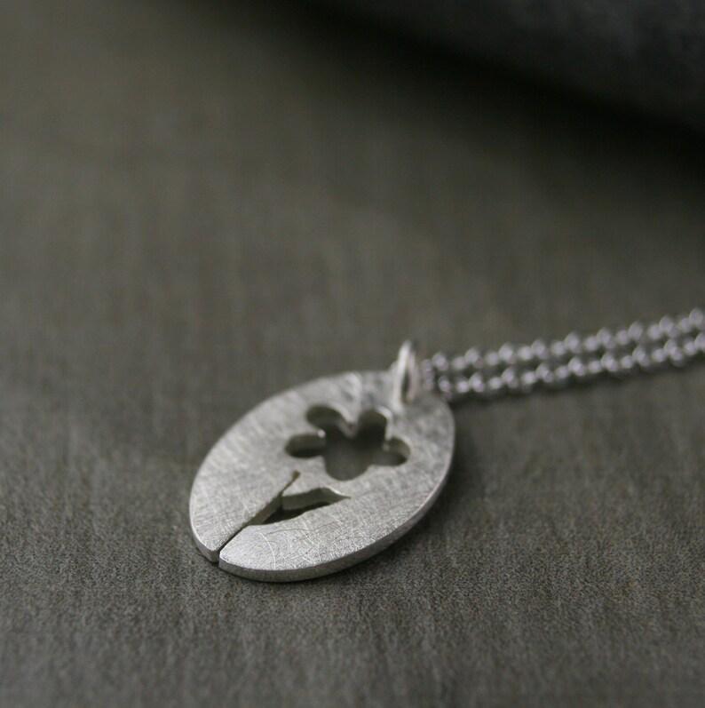 peo daisy marguerite charm sterling silver hand pierced P.E.O