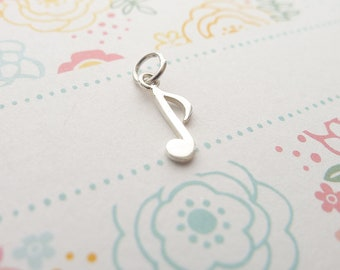 7a2fdb506 Musical Note Charm Music Pendant Sterling Silver Musician Jewelry (CNA1067 )