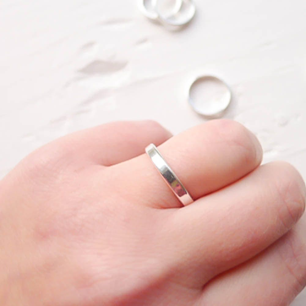 3mm Width Ring Blanks Sterling Silver Stamping for Names or Words ...