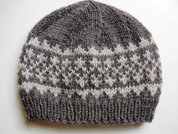 PDF knitting pattern for hat Simple Fair Isle Pattern Hat 1  c8ba9c04419