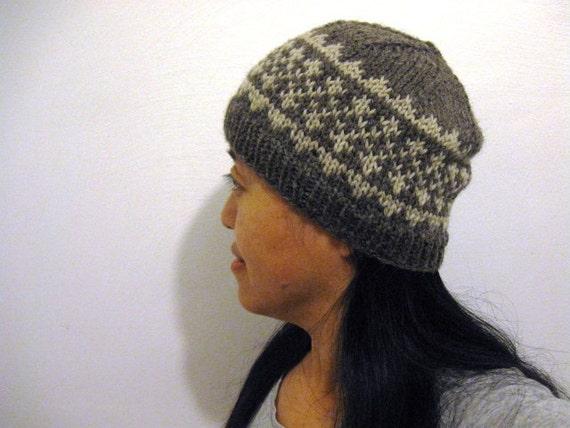 Pdf Knitting Pattern For Hat Simple Fair Isle Pattern Hat 1 Etsy