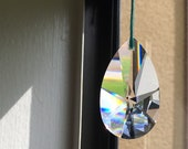 Large drop prism, window decor, jewelry supply, lamp supply