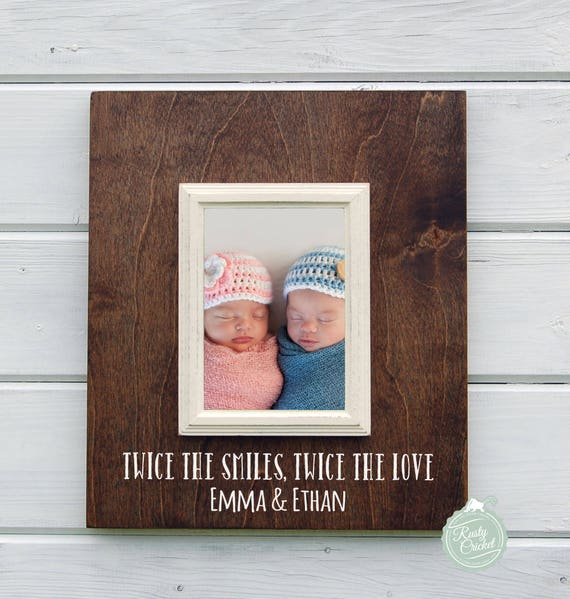 Twin Gift Personalized Baby Twins 8x10 Picture Frame Mother Etsy
