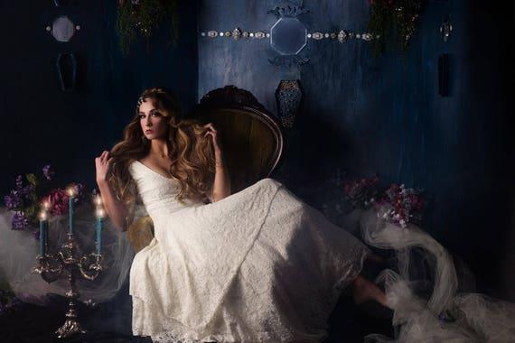 Gardenia Lace Handkerchief Hem Wedding Dress Etsy