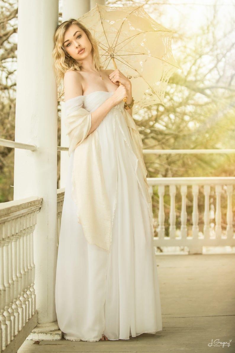 50cffc16f4c Daisy Gatsby Wedding Dress Chiffon off the shoulder