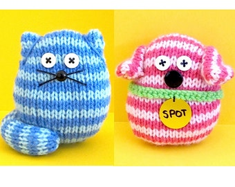 Quick and Easy Dogs and Cats - INSTANT DOWNLOAD PDF Knitting Pattern