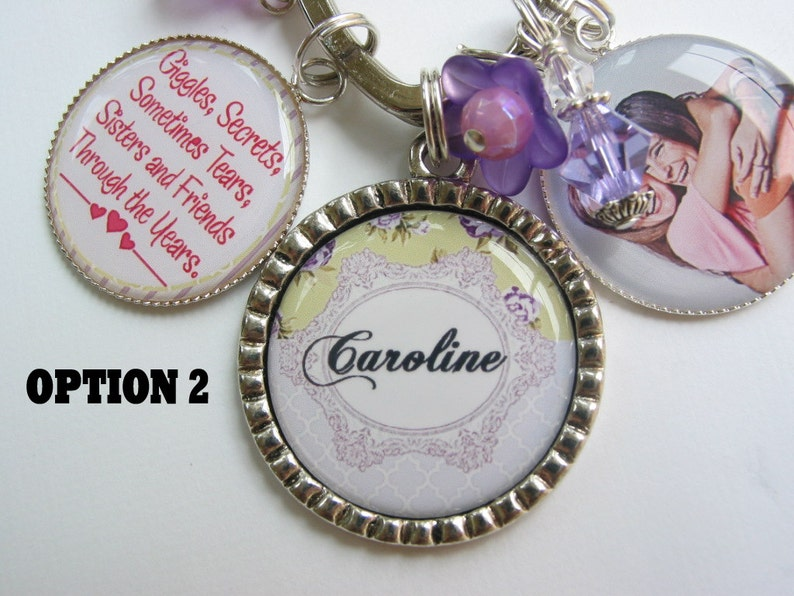 Personalized sisters keychain
