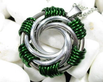 Mailstorm Spiral Chainmaille Necklace - Choice of Colors