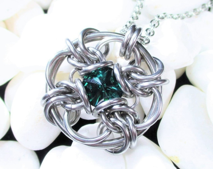 Forbidden Eye Chainmaille Pendant - Choice of Colors