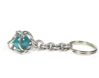 Chainmaille Marble Key Chain - Choice of Colors