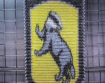 Hufflepuff Themed Chain Mail Wall Banner