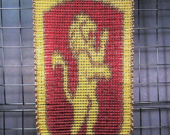 Gryffindor Themed Chain Mail Wall Banner