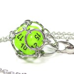 Removable Premium d20 Necklace or Key Chain - Choice of Colors - Stainless Steel Chainmaille