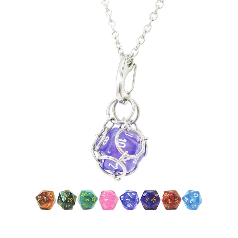 Chessex Signature Dice Jail Necklace  Dice Are Removable  image 0