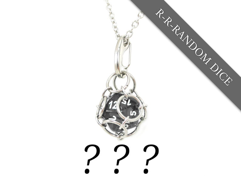 Removable d20 Jail Pendant  Random Dice Included Use Your image 0