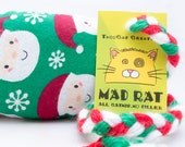 Big Santas Catnip Stuffed MadRat Cat Toy