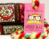 Harry Potter Houses Stained Glass Catnip Stuffed NerdRat Cat Toy