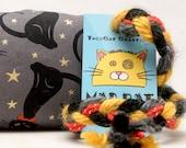 Black Cats in Bowties Gold Stars Catnip Stuffed MadRat Cat Toy