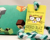 Minecraft NerdRat Catnip Stuffed Cat Toy