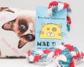 Grumpy Cat Pattern Catnip Stuffed MadRat Cat Toy