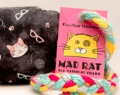 Cat Heads and Yarns Catnip Stuffed MadRat Cat Toy