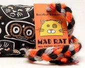 Pumpkins Cats and Owls Halloween Catnip Stuffed MadRat Cat Toy