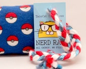 Pokemon Pokeballs Catnip Stuffed NerdRat Cat Toy