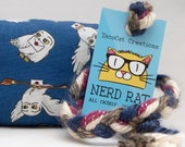 Hedwig Catnip Stuffed NerdRat Cat Toy