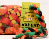 Halloween Candy Corn Catnip Stuffed MadRat Cat Toy