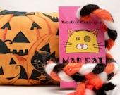 Black Cats Halloween Pumpkin Patch Catnip Stuffed MadRat Cat Toy