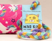 Unicorns on Pink Catnip Stuffed MadRat Cat Toy