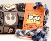 Star Wars Pattern Catnip Stuffed NerdRat Cat Toy