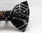Dapper Cat Glitter Spider Webs Bow Tie