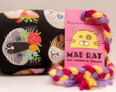 Cats with Flowers MadRat Catnip Stuffed Cat Toy