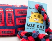 Phone Booth Catnip Stuffed MadRat Cat Toy