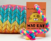 Rainbow Catnip Stuffed MadRat Cat Toy