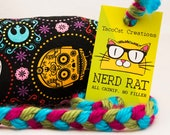 Star Wars Characters Sugar Skull Catnip Stuffed NerdRat Cat Toy