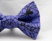 Dapper Cat Purple Spider Web Bow Tie